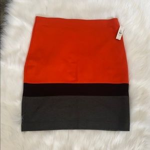Lord & Taylor Color Block Stretch Pencil Skirt